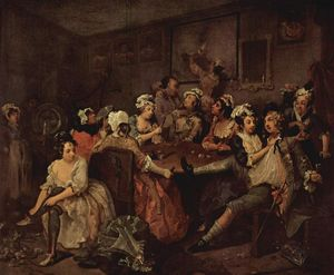 William Hogarth - Escena en una taberna