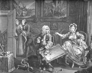 William Hogarth - a `harlot-s` progreso Plato 2