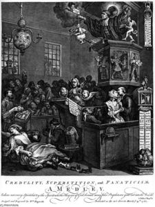 William Hogarth - La credulidad, superstición y fanatismo