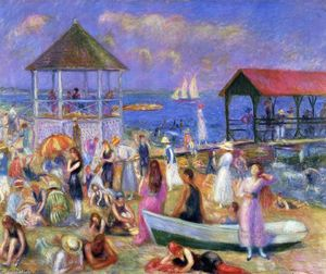 William James Glackens - Escena de la playa, de Nueva Londres