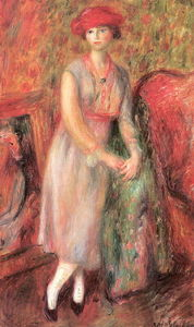 William James Glackens - Muchacha derecha con polainas blancas