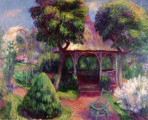 William James Glackens - Jardín en Hartford