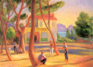 William James Glackens - Jugadores de bolos, La Ciotat