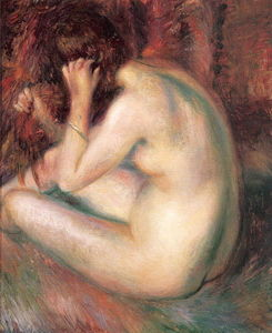 William James Glackens - Detrás de desnudo