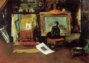 William Merritt Chase - el `tenth` calle estudio