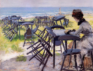 William Merritt Chase - fin de el temporada gafasoscuras