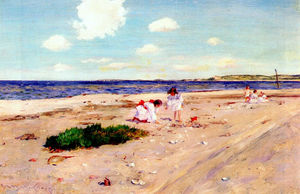 William Merritt Chase - Shell Beach en Shinnecock