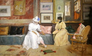 William Merritt Chase - Un amable  llamada