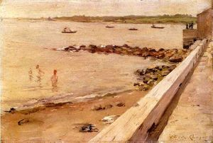 William Merritt Chase - el bañistas