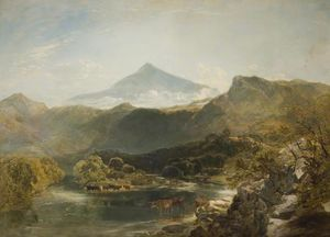 William Shayer Senior - Ben Nevis y arroyo de la montaña