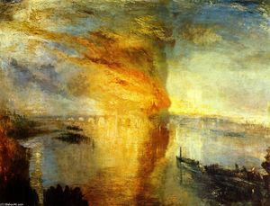William Turner - la quema todaclasede  el  casas  todaclasede  el Parlamento