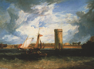 William Turner - Tabley, Seat del sir JF Leicester Bt .: Windy Day