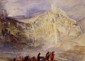 William Turner - Un desierto Engadí y Convento de Santa Saba