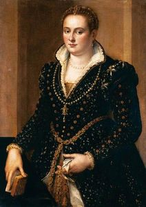 Alessandro Allori - Botas retrato of un Noble Mujer