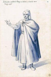Traje de la figura alegórica Aritmética - (Giuseppe Arcimboldo)