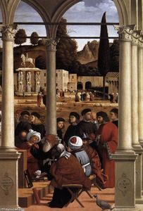 Vittore Carpaccio - Disputa of san esteban ( detalle )