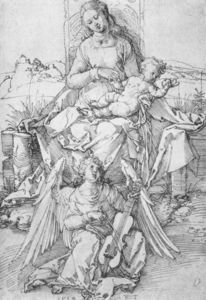 Albrecht Durer - la virgen y el niño con un Music-making Angel