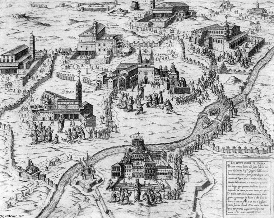 1. El papado en el S. XV Antonio-Lafreri-Pilgrims-visiting-the-Seven-Churches-of-Rome-during-the-Holy-Year-of-1575-2-