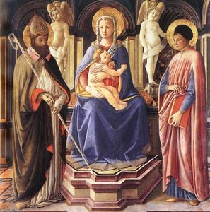 Master Of The Castello Nativity - Madonna y los santos Justo y Clemente