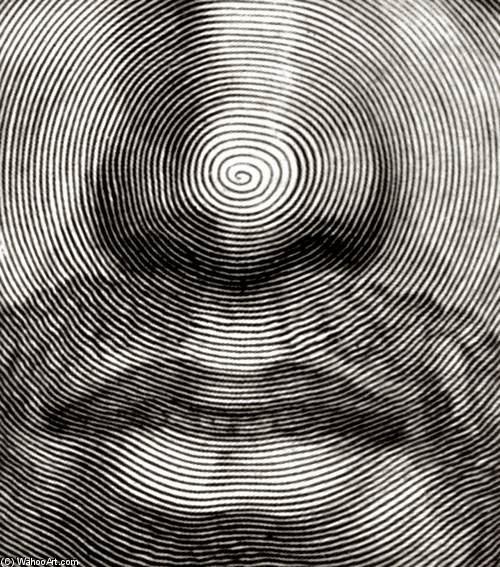 Implied Line Art Quizlet : Cara de cristo detalle grabado claude mellan