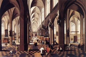 Peeter Neeffs The Younger - El interior of Antwerp Catedral