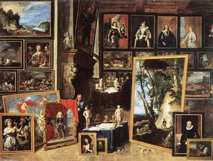 David The Younger Teniers - La Galería del archiduque Leopold en Bruselas
