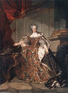 Jean Louis Tocqué - Marie Leczinska , Reina of France