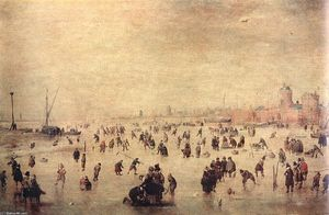 Hendrick Avercamp - Patinadores