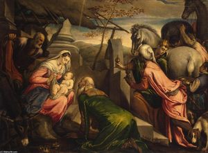 Francesco Bassano The Younger - Adoración de los Reyes Magos