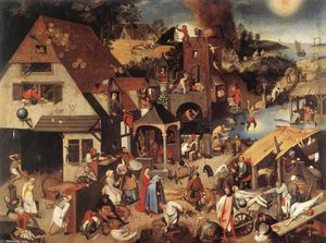 Pieter Bruegel The Younger - Proverbios flamencos