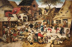 Pieter Bruegel The Younger - la kermesse of San George