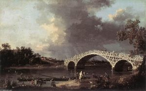 Giovanni Antonio Canal (Canaletto) - Old Bridge Walton