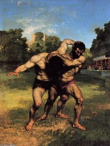 Gustave Courbet - Los Luchadores