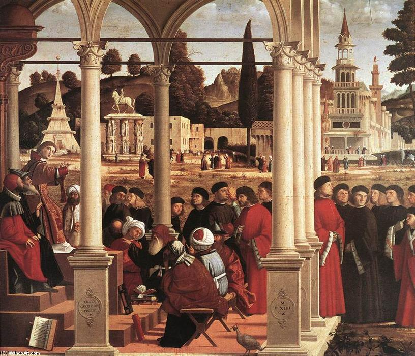 Disputa of san esteban, temperas de Vittore Carpaccio (1465-1526, Italy)