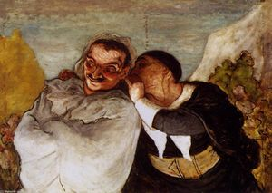 Honoré Daumier - Crispin y Scapin