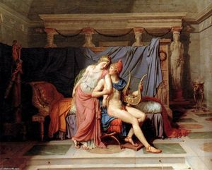 Jacques Louis David - Los amores de Paris y Helena