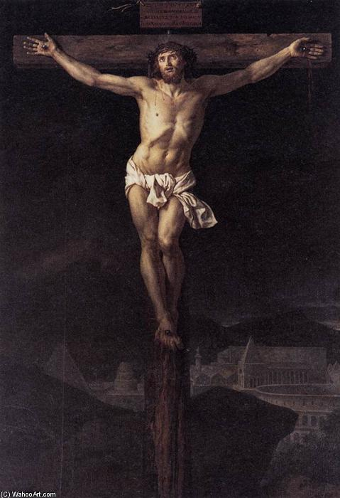 Cristo en la Cruz, óleo sobre lienzo de Jacques Louis David (1748-1800, France)