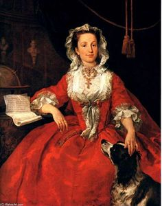 William Hogarth - Retrato de María Edwards