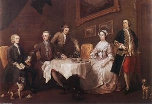 William Hogarth - La familia Strode
