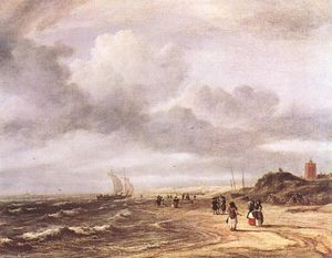 Jacob Isaakszoon Van Ruisdael (Ruysdael) - The Shore en Egmond-an-Zee
