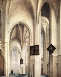 Pieter Jansz Saenredam - El interior of el san Jacob Church pulgadas Utrecht