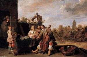 David The Younger Teniers - el pintor y sus familia