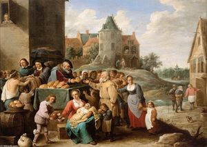 David The Younger Teniers - Los trabajos todaclasede Misericordia