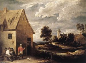 David The Younger Teniers - Escena del pueblo