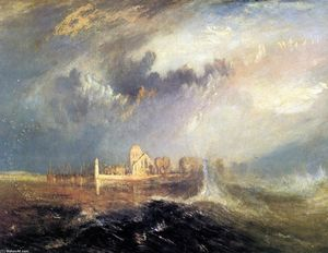 William Turner - Quillebeuf, en la desembocadura del Sena