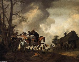Philips Wouwerman - Batalla a caballo