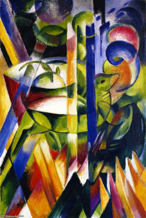 Las cabras Little Mountain, 1914 de Franz Marc (1880-1916, Germany) | Copia De La Pintura | WahooArt.com