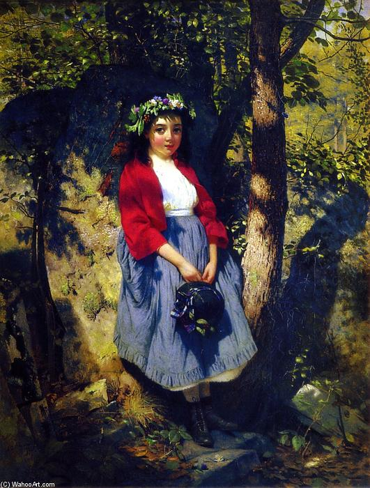 la pequeña reina  todaclasede  el  bosque , 1865 de John George Brown (1831-1913, United Kingdom) | WahooArt.com