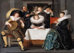 Dirck Hals - A Merry Company Music Making