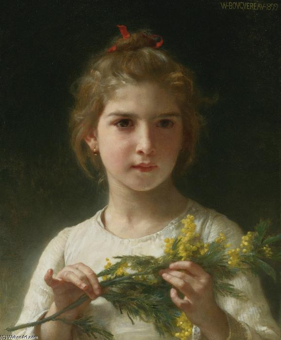Mimosa, óleo sobre lienzo de William Adolphe Bouguereau (1825-1905, France)
